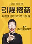 引爆招商:企业现金流和规模快速增长的商业利器-王昕-前沿讲座,王昕老师