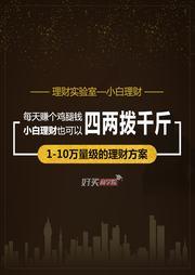 1-10万量级的理财方案(订阅)-桂强礼-好买商学院